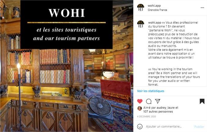 Wohi community manager instagram tourisme 5